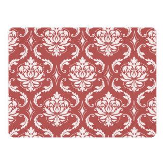 Marsala Classic Damask Pattern 17 Cm X 22 Cm Invitation Card
