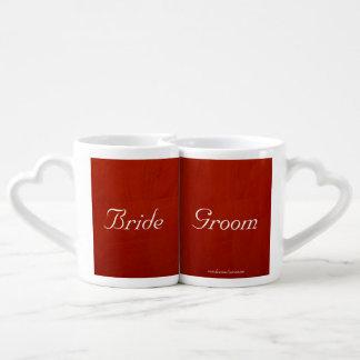 Marsala Crimson Lovers Mugs Set Lovers Mug
