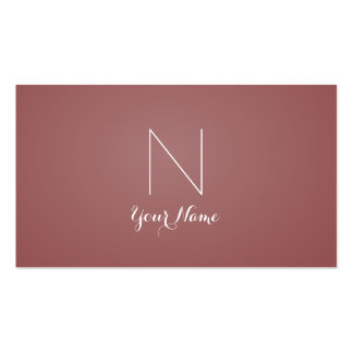 Marsala - Daring Sophisticated and Monogrammed Pack Of Standard Business Cards