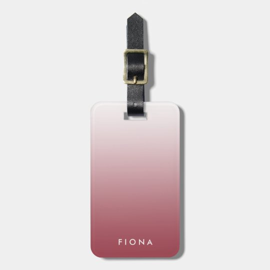 Marsala Gradient Ombre Personalised Luggage Tag