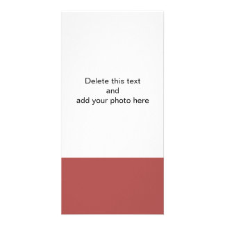 Marsala High End Solid Color Custom Photo Card