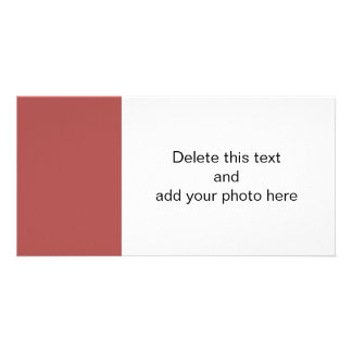 Marsala High End Solid Color Photo Greeting Card