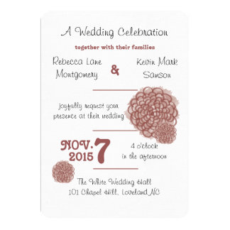 Marsala Hydrangea Wedding Invitation
