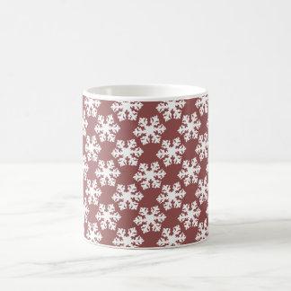 marsala snowflake mug