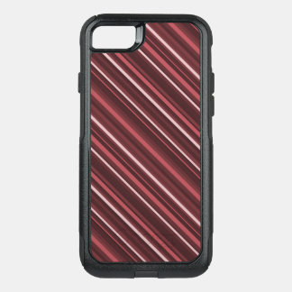 Marsala Stripes OtterBox Commuter iPhone 7 Case