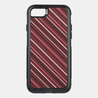 Marsala Stripes OtterBox Commuter iPhone 8/7 Case