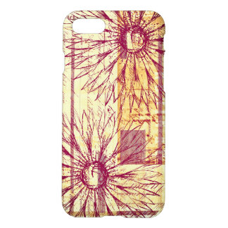 Marsala Vintage French Typography Flower Doodle iPhone 8/7 Case