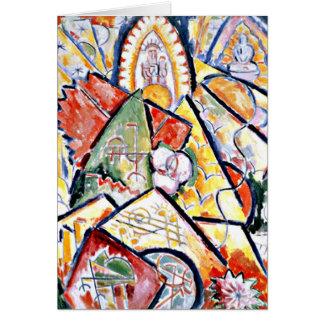 Marsden Hartley - Musical Theme Greeting Card