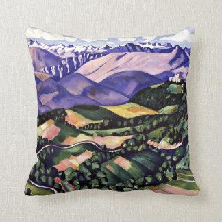 Marsden Hartley - Purple Mountains, Venice Throw Pillows