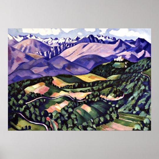 Marsden Hartley - Purple Mountains, Venice Poster
