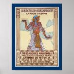 Marseille - Alexandrie ~ La Route D'Egypte Print
