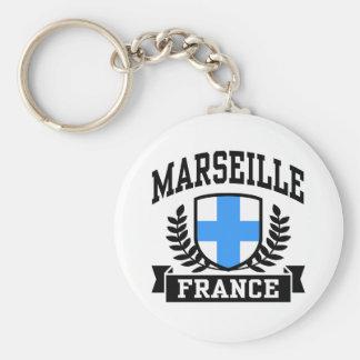 Marseille Basic Round Button Key Ring