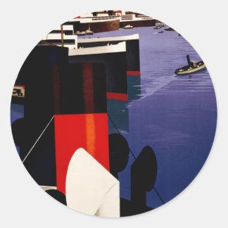 Marseille, porte de l'Afrique du nord Classic Round Sticker