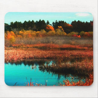 Marsh and Trees in Autumn Canada Mouse Pad