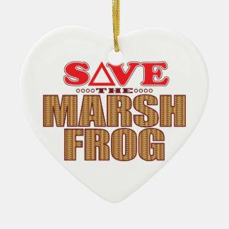 Marsh Frog Save Christmas Ornament