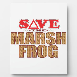 Marsh Frog Save Plaque