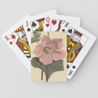 Marsh Hibiscus Botanical Illustration Playing Cards
