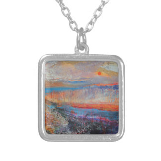 Marsh Sunset 2013 Silver Plated Necklace
