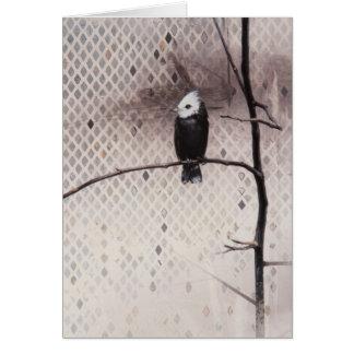 Marsh Tyrant Blank Card by Andrew Denman