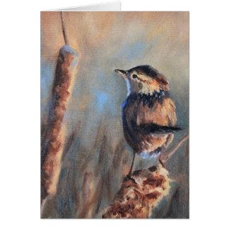 Marsh Wren Fine Art Card