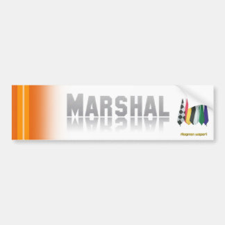 """Marshal 2"" by Flagman Bumper Sticker"