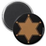Marshal Badge 6 Cm Round Magnet