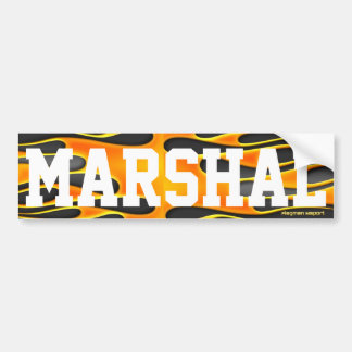 """Marshal"" by Flagman Bumper Sticker"