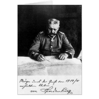Marshal Paul von Hindenburg, 1914 Card