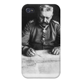 Marshal Paul von Hindenburg, 1914 Covers For iPhone 4