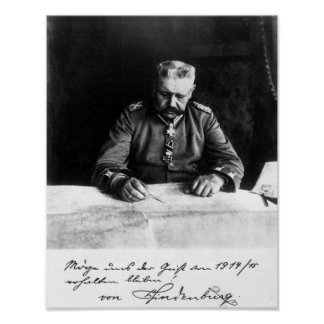 Marshal Paul von Hindenburg, 1914 Poster