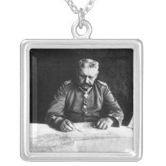 Marshal Paul von Hindenburg, 1914 Silver Plated Necklace