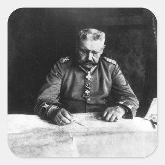 Marshal Paul von Hindenburg, 1914 Square Sticker