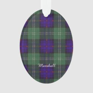 Marshall clan Plaid Scottish kilt tartan Ornament