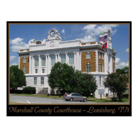 Marshall County Courthouse - Lewisburg, TN Postcard