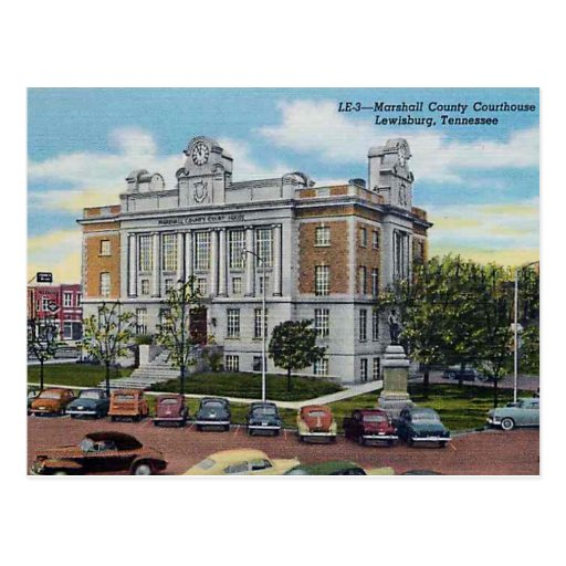 Marshall County Courthouse Vintage Post Cards