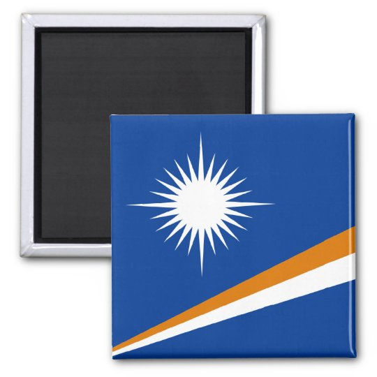 Marshall Islands Flag Square Magnet