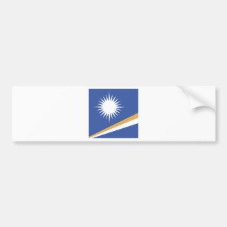 Marshall Islands High quality Flag Bumper Sticker