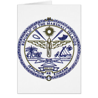 Marshall Islands National Seal Greeting Cards