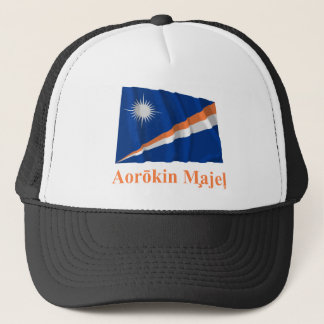 Marshall Islands Waving Flag w Name in Marshallese Trucker Hat