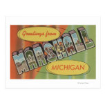 Marshall, Michigan - Large Letter Scenes Post Card