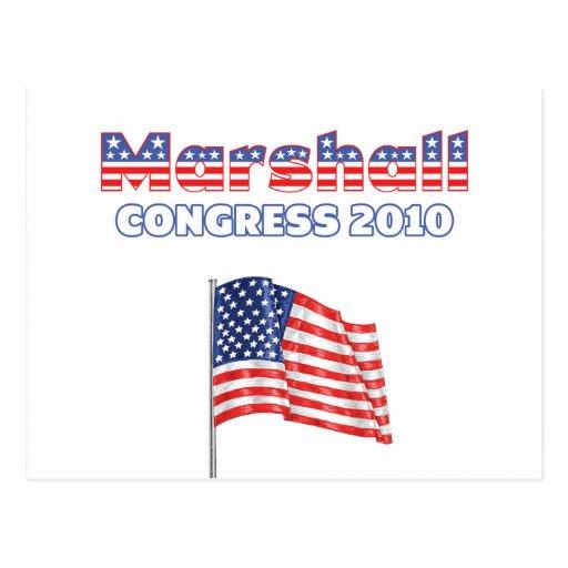 Marshall Patriotic American Flag 2010 Elections Postcards