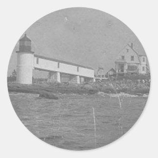 Marshall Point Light Station Round Stickers