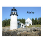 Marshall Point lighthouse in Maine Post Card