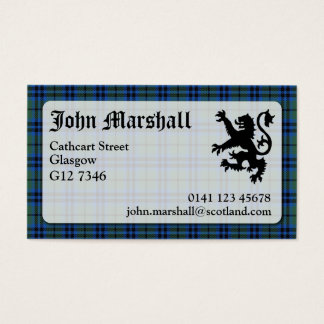 Marshall Tartan Business Card
