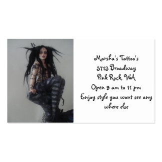 Marsha's Tattoo's Pack Of Standard Business Cards