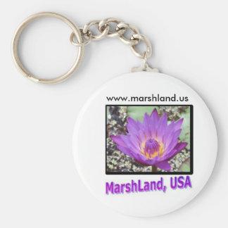 MarshLand, USA Logo Products Basic Round Button Key Ring