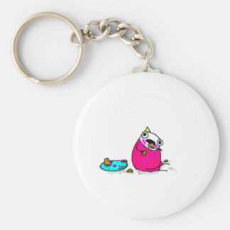 Marshmallow Cake Key Ring