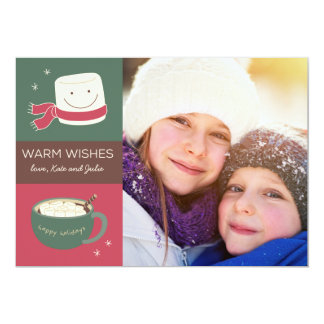 Marshmallow Hot Chocolate Holiday Photo Card