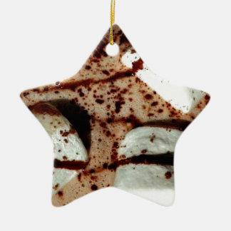 Marshmallow in hot drink ceramic star decoration