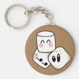 Marshmallows Basic Round Button Key Ring